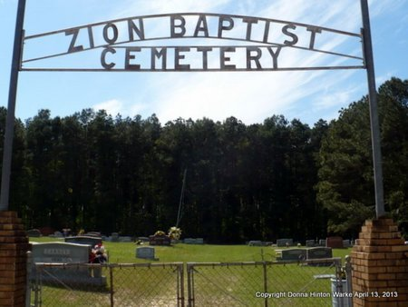 *ZION, BAPTIST CEMTERY SIGN - Natchitoches County, Louisiana | BAPTIST CEMTERY SIGN *ZION - Louisiana Gravestone Photos