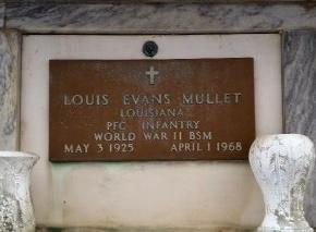MULLET, LOUIS EVANS  (VETERAN WWII) - Orleans County, Louisiana | LOUIS EVANS  (VETERAN WWII) MULLET - Louisiana Gravestone Photos