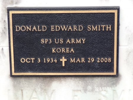 SMITH, DONALD EDWARD  (VETERAN KOR) - Orleans County, Louisiana | DONALD EDWARD  (VETERAN KOR) SMITH - Louisiana Gravestone Photos