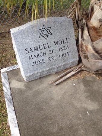 WOLF, SAMUEL - Orleans County, Louisiana | SAMUEL WOLF - Louisiana Gravestone Photos