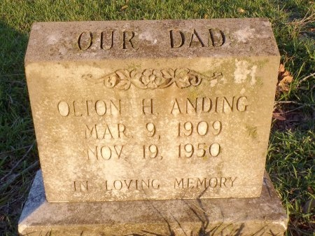 ANDING, OLTON HEARN - Ouachita County, Louisiana | OLTON HEARN ANDING - Louisiana Gravestone Photos