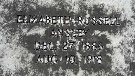 RUSSELL ANSLEY, ELIZABETH - Ouachita County, Louisiana   ELIZABETH RUSSELL ANSLEY - Louisiana Gravestone Photos