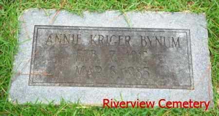 BYNUM, ANNIE - Ouachita County, Louisiana | ANNIE BYNUM - Louisiana Gravestone Photos