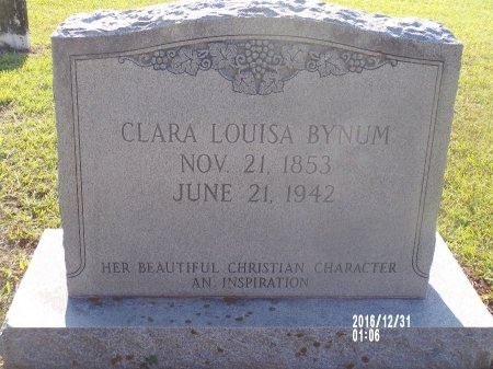BYNUM, CLARA LOUISA - Ouachita County, Louisiana | CLARA LOUISA BYNUM - Louisiana Gravestone Photos
