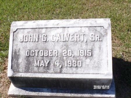 CALVERT, JOHN G, SR - Ouachita County, Louisiana   JOHN G, SR CALVERT - Louisiana Gravestone Photos