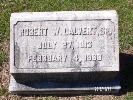 CALVERT, ROBERT W, SR - Ouachita County, Louisiana | ROBERT W, SR CALVERT - Louisiana Gravestone Photos