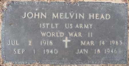 HEAD, JOHN MELVIN (VETERAN WWII) - Ouachita County, Louisiana | JOHN MELVIN (VETERAN WWII) HEAD - Louisiana Gravestone Photos