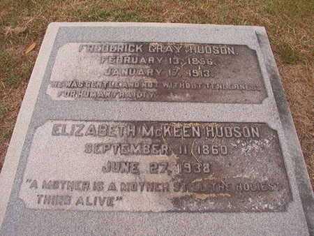 MCKEEN HUDSON, ELIZABETH - Ouachita County, Louisiana | ELIZABETH MCKEEN HUDSON - Louisiana Gravestone Photos