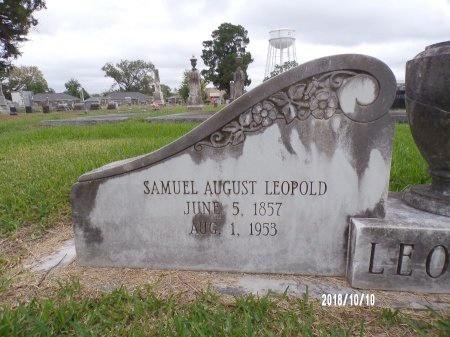 LEOPOLD, SAMUEL AUGUST (CLOSE UP) - Ouachita County, Louisiana   SAMUEL AUGUST (CLOSE UP) LEOPOLD - Louisiana Gravestone Photos