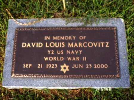 MARCOVITZ, DAVID LOUIS (VETERAN WWII) - Ouachita County, Louisiana | DAVID LOUIS (VETERAN WWII) MARCOVITZ - Louisiana Gravestone Photos