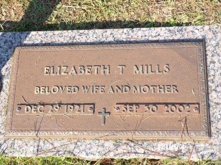 MILLS, ELIZABETH T - Ouachita County, Louisiana | ELIZABETH T MILLS - Louisiana Gravestone Photos