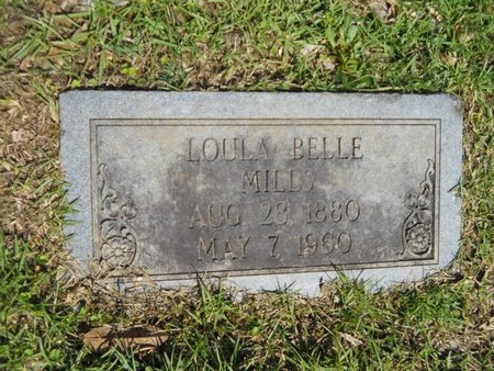 MILLS, LOULA BELLE - Ouachita County, Louisiana | LOULA BELLE MILLS - Louisiana Gravestone Photos