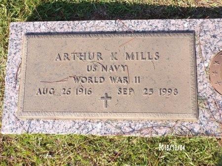 MILLS, ARTHUR K (VETERAN WWII) - Ouachita County, Louisiana | ARTHUR K (VETERAN WWII) MILLS - Louisiana Gravestone Photos