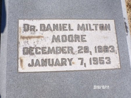 MOORE, DANIEL MILTON, DR - Ouachita County, Louisiana   DANIEL MILTON, DR MOORE - Louisiana Gravestone Photos