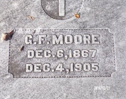 MOORE, G F - Ouachita County, Louisiana | G F MOORE - Louisiana Gravestone Photos