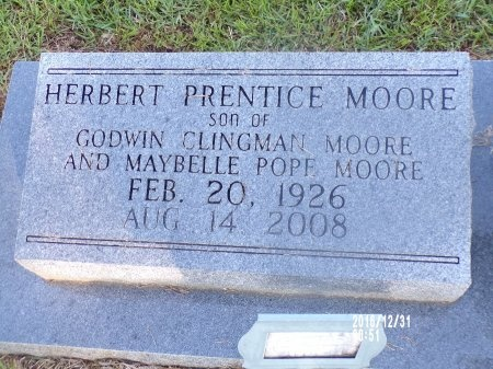 MOORE, HERBERT PRENTICE - Ouachita County, Louisiana   HERBERT PRENTICE MOORE - Louisiana Gravestone Photos