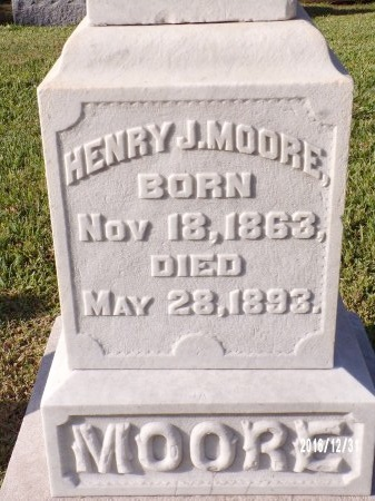 MOORE, HENRY J (CLOSE UP) - Ouachita County, Louisiana   HENRY J (CLOSE UP) MOORE - Louisiana Gravestone Photos