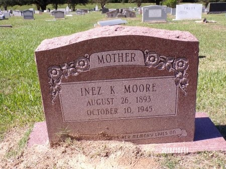 MOORE, INEZ K - Ouachita County, Louisiana | INEZ K MOORE - Louisiana Gravestone Photos