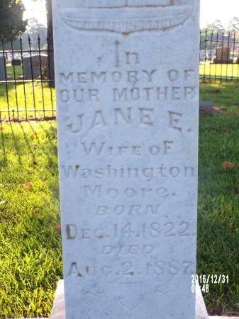 MOORE, JANE E - Ouachita County, Louisiana | JANE E MOORE - Louisiana Gravestone Photos