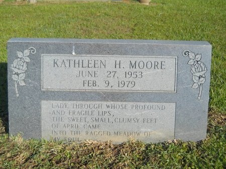 MOORE, KATHLEEN H - Ouachita County, Louisiana | KATHLEEN H MOORE - Louisiana Gravestone Photos