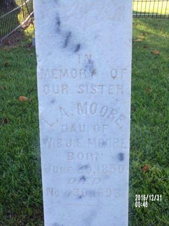 MOORE, L A - Ouachita County, Louisiana   L A MOORE - Louisiana Gravestone Photos