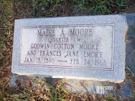 MOORE, MADIE A - Ouachita County, Louisiana | MADIE A MOORE - Louisiana Gravestone Photos