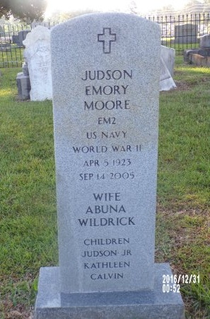 MOORE  , JUDSON EMORY (VETERAN WWII) - Ouachita County, Louisiana | JUDSON EMORY (VETERAN WWII) MOORE   - Louisiana Gravestone Photos