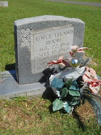 MOORE, ROYCE LELAND - Ouachita County, Louisiana   ROYCE LELAND MOORE - Louisiana Gravestone Photos