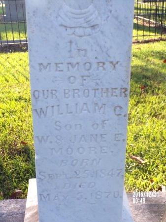 MOORE, WILLIAM C - Ouachita County, Louisiana | WILLIAM C MOORE - Louisiana Gravestone Photos