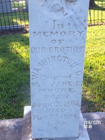 MOORE, WASHINGTON D - Ouachita County, Louisiana   WASHINGTON D MOORE - Louisiana Gravestone Photos