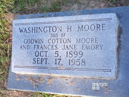 MOORE, WASHINGTON H - Ouachita County, Louisiana | WASHINGTON H MOORE - Louisiana Gravestone Photos