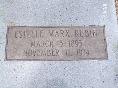MARX RUBIN, ESTELLE - Ouachita County, Louisiana | ESTELLE MARX RUBIN - Louisiana Gravestone Photos