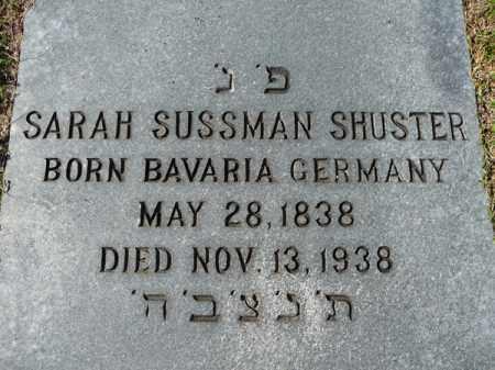 SUSSMAN SHUSTER, SARAH - Ouachita County, Louisiana | SARAH SUSSMAN SHUSTER - Louisiana Gravestone Photos