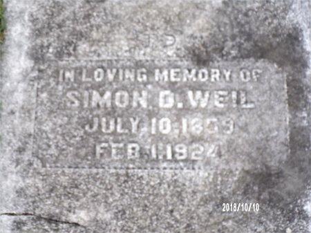 WEIL, SIMON D - Ouachita County, Louisiana | SIMON D WEIL - Louisiana Gravestone Photos