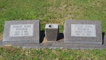 WORSHAM, VIVIAN LEWIS - Ouachita County, Louisiana | VIVIAN LEWIS WORSHAM - Louisiana Gravestone Photos