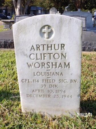 WORSHAM , ARTHUR CLIFTON (VETERAN WWI) - Ouachita County, Louisiana | ARTHUR CLIFTON (VETERAN WWI) WORSHAM  - Louisiana Gravestone Photos