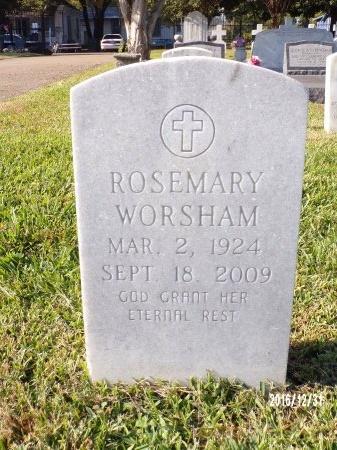 WORSHAM, ROSEMARY - Ouachita County, Louisiana | ROSEMARY WORSHAM - Louisiana Gravestone Photos