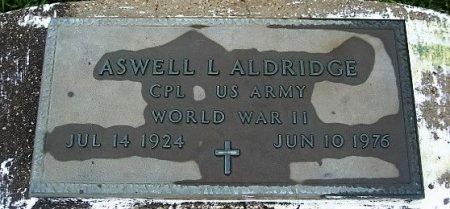 ALDRIDGE, ASWELL L  (VETERAN WWII) - Pointe Coupee County, Louisiana   ASWELL L  (VETERAN WWII) ALDRIDGE - Louisiana Gravestone Photos