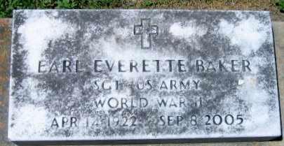 BAKER, EARL EVERETTE (VETERAN WWII) - Pointe Coupee County, Louisiana | EARL EVERETTE (VETERAN WWII) BAKER - Louisiana Gravestone Photos