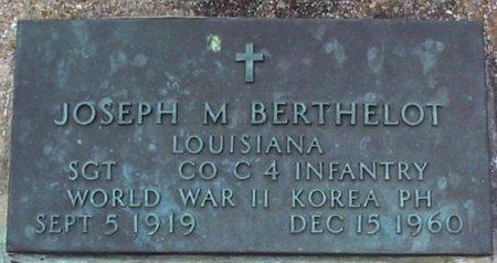 BERTHELOT, JOSEPH MURRAY   (VETERAN 2 WARS) - Pointe Coupee County, Louisiana | JOSEPH MURRAY   (VETERAN 2 WARS) BERTHELOT - Louisiana Gravestone Photos