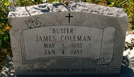 """COLEMAN, JAMES  """"BUSTER"""" - Pointe Coupee County, Louisiana   JAMES  """"BUSTER"""" COLEMAN - Louisiana Gravestone Photos"""