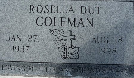 COLEMAN, ROSELLA DUT - Pointe Coupee County, Louisiana   ROSELLA DUT COLEMAN - Louisiana Gravestone Photos