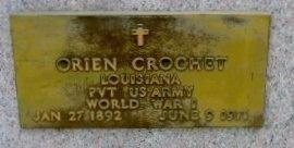CROCHET, ORIEN  (VETERAN WWI - Pointe Coupee County, Louisiana | ORIEN  (VETERAN WWI CROCHET - Louisiana Gravestone Photos