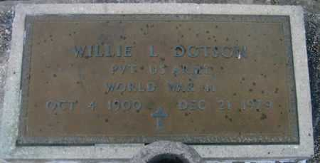 DOTSON, WILLIE L  (VETERAN WWII) - Pointe Coupee County, Louisiana | WILLIE L  (VETERAN WWII) DOTSON - Louisiana Gravestone Photos