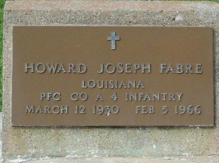 FABRE, HOWARD JOSEPH  (VETERAN KOR) - Pointe Coupee County, Louisiana | HOWARD JOSEPH  (VETERAN KOR) FABRE - Louisiana Gravestone Photos