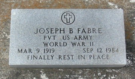 FABRE, JOSEPH B  (VETERAN WWII) - Pointe Coupee County, Louisiana | JOSEPH B  (VETERAN WWII) FABRE - Louisiana Gravestone Photos