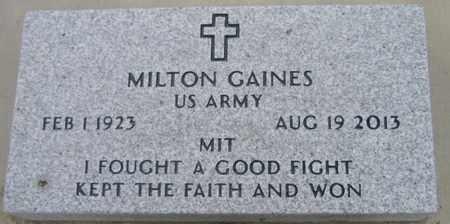 "GAINES, MILTON  ""MIT""  (VETERAN) - Pointe Coupee County, Louisiana   MILTON  ""MIT""  (VETERAN) GAINES - Louisiana Gravestone Photos"