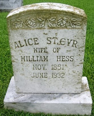 ST CYR HESS, ALICE - Pointe Coupee County, Louisiana   ALICE ST CYR HESS - Louisiana Gravestone Photos