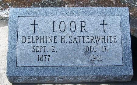 SATTERWHITE IOOR, DELPHINE H - Pointe Coupee County, Louisiana | DELPHINE H SATTERWHITE IOOR - Louisiana Gravestone Photos