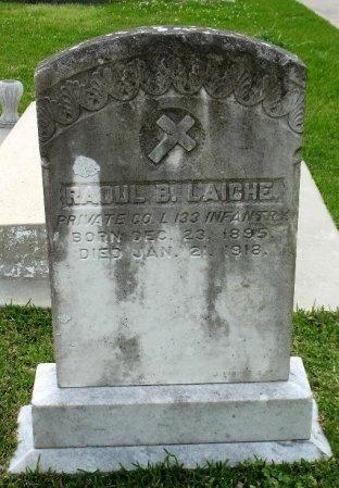 LAICHE, RAOUL B  (VETERAN WWI) - Pointe Coupee County, Louisiana | RAOUL B  (VETERAN WWI) LAICHE - Louisiana Gravestone Photos